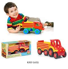 tracteur en bois enfants en bois traditionnel ferme tracteur u0026amp remorque jouet