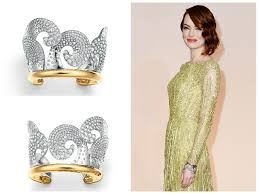 Tips For A Dazzling Smile by Emma Stone U0027s Tiffany U0027s Gold And Damond Cuff At The Oscars 2015
