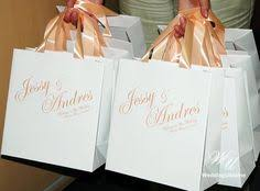 personalized wedding welcome bags wedding welcome bags with satin ribbon and names