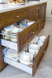 brilliant use for deep kitchen drawers plate storage that u0027s neat