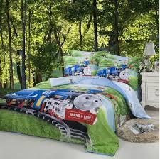 train thomas kids boys cartoon comforter bedding set children for