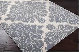 Blue Grey Area Rugs Glamorous Surya Candice Modern Classics Can 1957 White