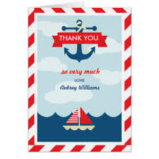 nautical thank you cards nautical theme thank you cards zazzle