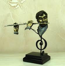 aliexpress com buy abstract flute player sculpture handmade