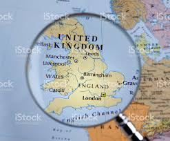 Map Of England by Magnifying Glass Over A Map Of England Stock Photo 459676663 Istock