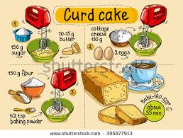 how to make a cake step by step recipe curd cake step by stock vector 395877913
