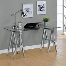 coaster 800900 adjustable writing desk with sawhorse legs in