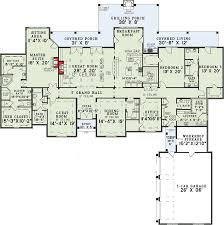 four bedroom ranch house plans 4 bedroom grandeur 60502nd architectural designs house plans
