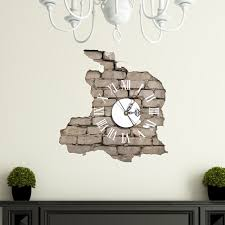 pag sticker 3d wall clock decals breaking cracking wall sticker pag sticker 3d wall clock decals breaking cracking wall sticker home wall decor gift