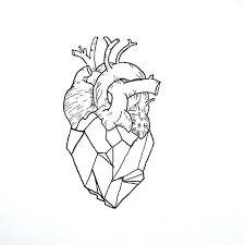 tattoo geometric outline anatomical heart outline a geometric heart tattoo idea anatomical