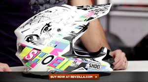 shoei helmets motocross shoei vfx w krack helmet review at revzilla com youtube