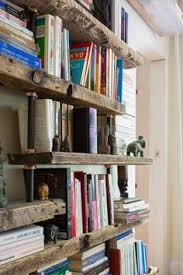 Wood Bookshelves by Industrial Copper Pipe And Reclaimed Wood Shelving Unit With Open