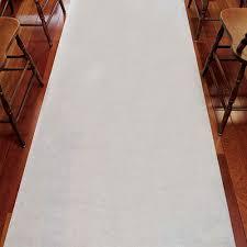 isle runner plain white fabric wedding aisle runner the knot shop