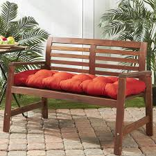 Fall Outdoor Pillows by Amazon Com Greendale Home Fashions 51 Inch Indoor Outdoor Bench