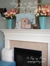 spring easter mantel decor a pop of pretty blog canadian home