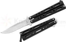 Black Kitchen Knives Benchmark Balisong Butterfly Knife 4