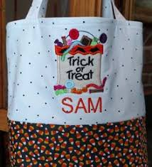 personalized trick or treat bags personalized trick or treat bag applique embroidery by jessiemae