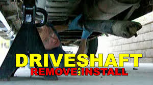 nissan frontier drive shaft driveshaft remove and install how to youtube