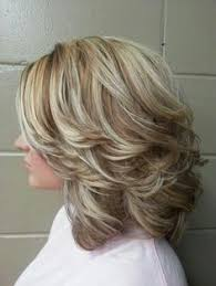 layered highlighted hair styles hairstyles with bangs for older women gallery of medium