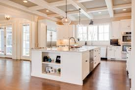 kitchen island construction large kitchen island with coffered ceilings farinelli