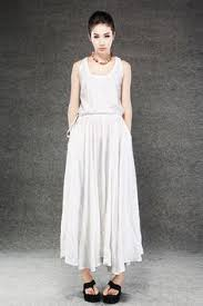 white linen dress for women characteristic extravagant