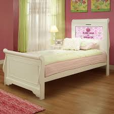 White Sleigh Bed Lightheaded Beds Edgewood Satin White Twin Sleigh Bed With