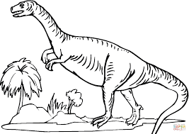 plateosaurus 9 coloring page free printable coloring pages