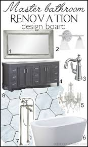 master bathroom renovation design board ask anna