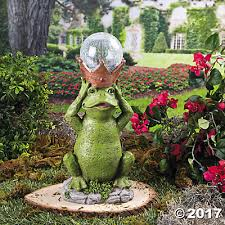 frog prince solar garden statue trading discontinued