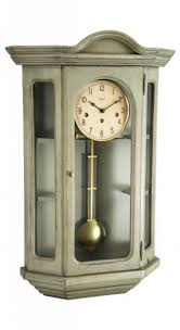 clockway german hermle curio mechanical wooden wall clock gray