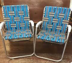Vintage Aluminum Folding Chairs Vintage Aluminum Webbed Folding Chaise Lounge Patio Reclining Lawn