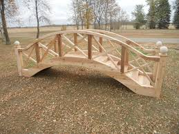 wooden bridge plans big wooden bridge design garden bridges 4 52ft long elegant