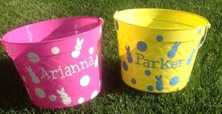 personalized easter buckets personalized easter baskets only 5 99 free shipping