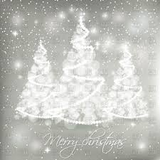 white abstract christmas trees on grey background with lights and