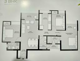 3 bhk 900 sq ft apartment for sale in godrej emerald at rs