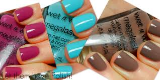 let them have polish wet u0027n u0027 wild megalast nail color swatches