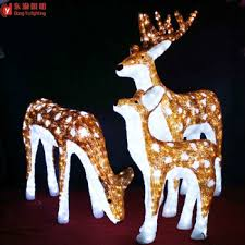 Christmas Reindeer Statue Decorations by Christmas Outdoor Decoration Animated Led Christmas Reindeer Buy