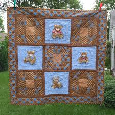 Brown And Blue Bedding by Baby Boy Quilt Homemade Baby Quilt Baby Bedding Patchwork