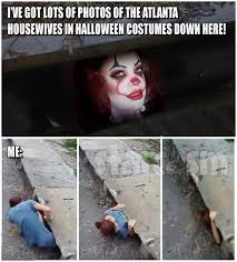 Pennywise The Clown Meme - rhoa halloween costume party with pennywise kandi burruss 50 cent