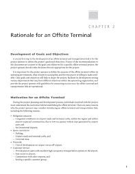 statement of purpose and objectives chapter 2 rationale for an offsite terminal planning for page 3