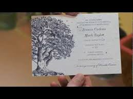 tree wedding invitations plantable wedding invitations oak tree by foreverfiances