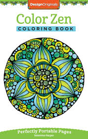 amazon com color zen coloring book perfectly portable pages on
