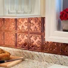 Copper Tiles For Kitchen Backsplash Copper Tile Backsplash Traditional Decorative Panel In Polished