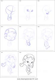 how to draw oona from bubble guppies printable step by step