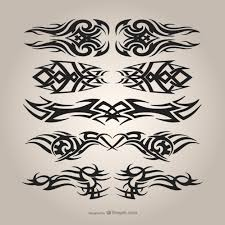 tribal tattoos set vector free