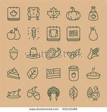 thanksgiving minimal flat line stroke icon stock vector 531115414