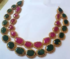 emerald stone necklace jewelry images 15 beautiful ruby necklace jewellery designs styles at life png