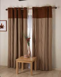 Curtain Panels Living Room Living Room Decorating Idea With Brown Fabric Curtain