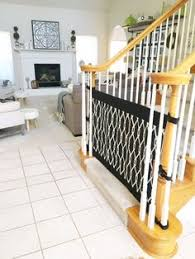 Best Baby Gate For Banisters The Stair Barrier Khaki Stair Barrier Banister To Banister Gate