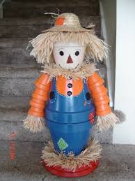 Decorating Clay Pots Kids Homemade Clay Pots Scarecrow Crafts For Kids 2015 Thanksgiving
